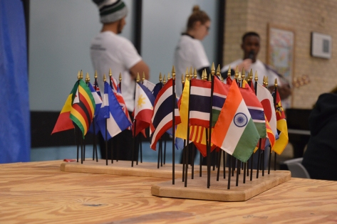 Flags in foregroundSM
